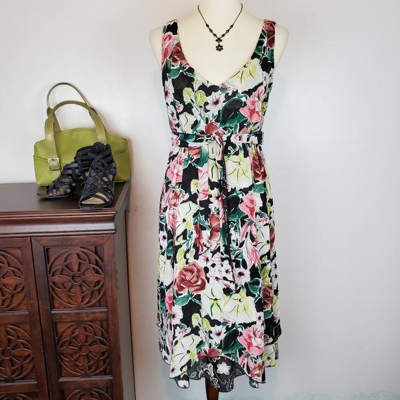 7a555829 CAbi Dresses | Reversible Sleeveless Floral Dress M | Poshmark